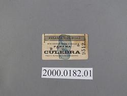 railway ticket, panama