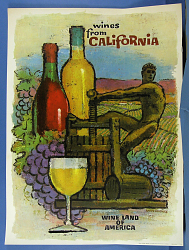 "Poster, ""Wines of California"""