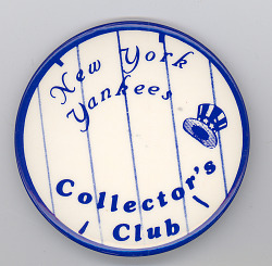 New York Yankees Collectors Club button