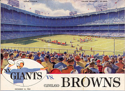 Football program, New York Giants vs. Cleveland Browns, 1958