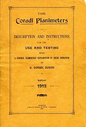 Instruction Manual for Coradi Planimeters