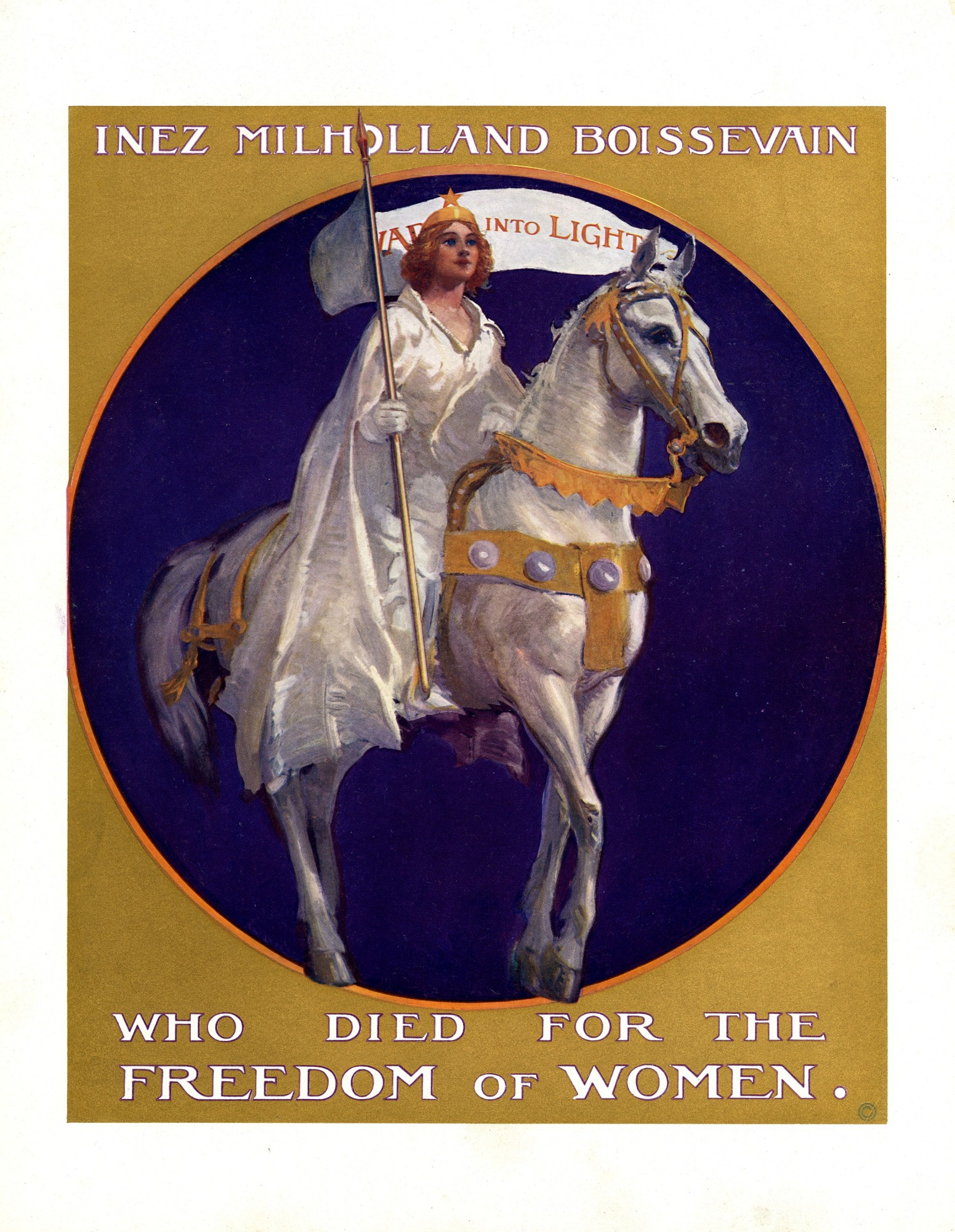 images for Inez Milholland Pageant Poster, 1924