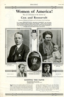 Presidential Campaign Advertisement, 1920
