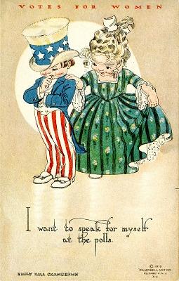 Woman Suffrage Postcard, c. 1915