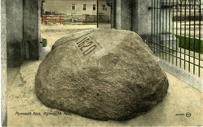 Plymouth Rock Postcard, about 1905
