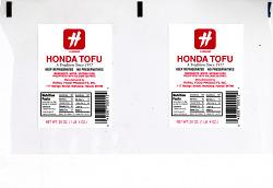 tofu packing label
