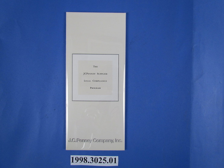 The JC Penney Supplier Legal Compliance Program, 1996