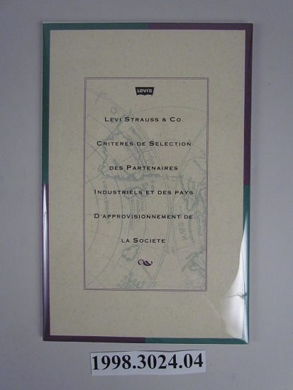 levi strauss 1991 terms of engagement french smithsonian