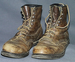 Boots worn by Earl Shaffer while hiking the Appalachian Trail
