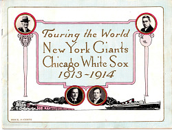 New York Giants and the Chicago White Sox World Tour baseball program