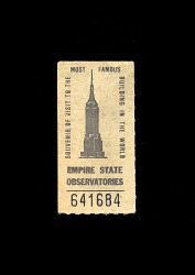 Souvenir of Visit to the Most Famous Building in the World: Empire State Observatories