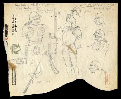 Studies for <i>San Salvador, 1492</i>