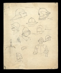 Studies for San Salvador, 1492