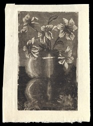 vase and flowers with reflection