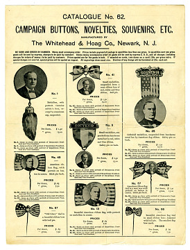 Campaign Trade Catalogue, 1896
