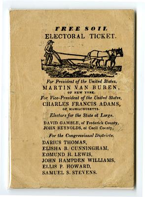 Free Soil Electoral Ticket, 1836