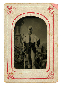Tintype of Parade Marcher, 1860