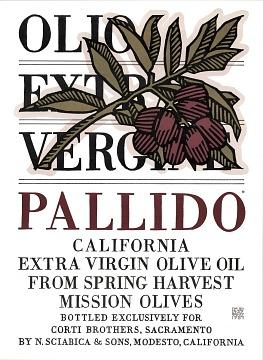 Pallido California Extra Virgin Olive Oil Poster