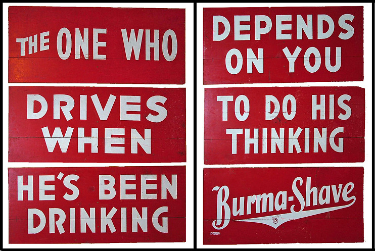 Burma-Shave Advertising Signs
