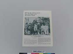 Holt Adoption Program Newsletter, 1962 New Years Greeting