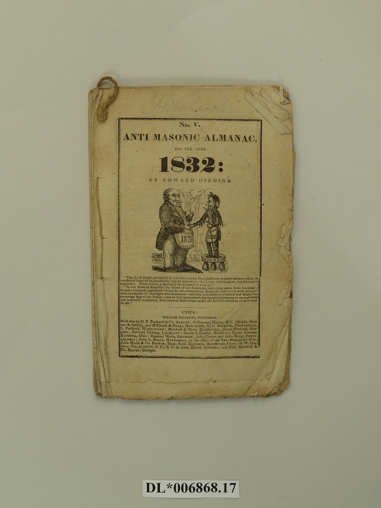 Anti Masonic Almanac 1832 National Museum Of American History