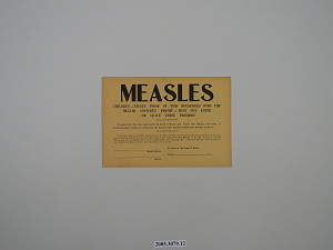 images for Measles - Children - Except Those of This Household with the Health Officer's Permit - Must Not Enter or Leave These Premises-thumbnail 3