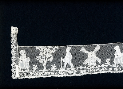 Border with Motifs and Inscription