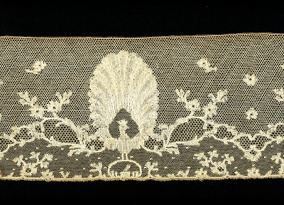 Peacock Design Border Sample