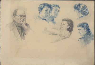 portrait studies of women and men