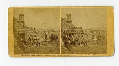 Stereograph: House near York River, commandeered as headquarters of Union General Fitz-John Porter, 1862