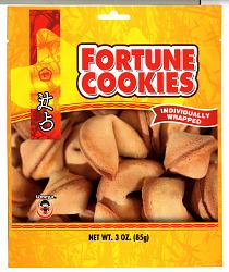 Umeya fortune cookie packaging.