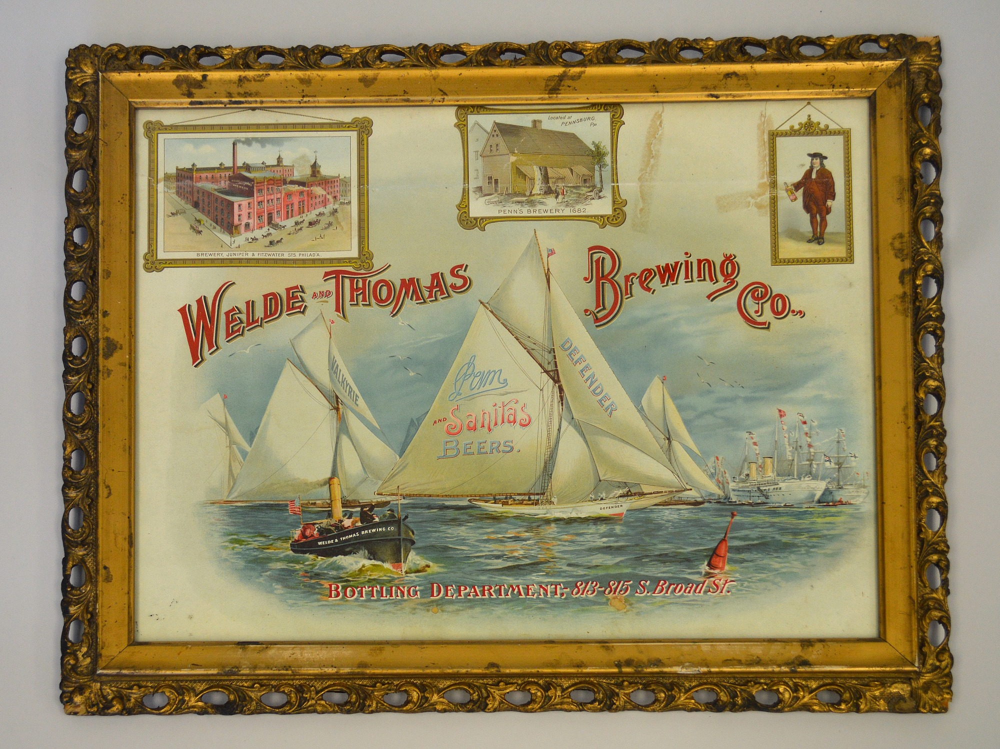 images for Framed Advertising Print, Welde and Thomas Brewing Co., ca. 1895