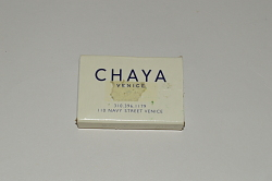 Chaya restaurant matchbox