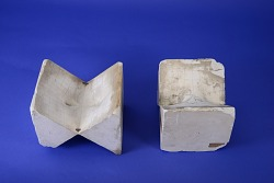 Group of Two Plaster Models for Function Theory by L. Brill, No. 173, Ser. 14 No. 1a and 1b
