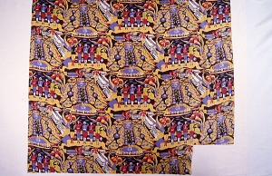 """images for """"Allied Soldiers at Attention"""" design printed dress silk, Mallinson's La Victoire series II-thumbnail 2"""