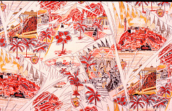 """Havana"" dress silk; Mallinson's Playgrounds of the World series"