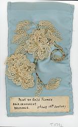 Three-dimensional Hair Ornament i Point de Gaze needle lace