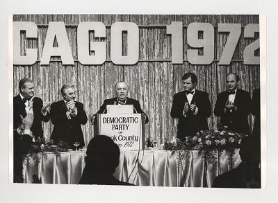 Mayor Daley, Ted Kennedy and Adlai Stevenson