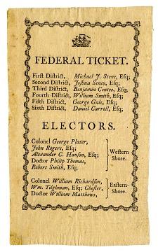 Electoral Ticket, 1789