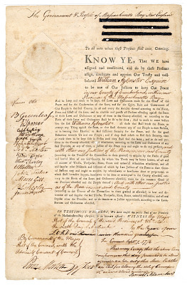Massachusetts Judge Appointment Certificate