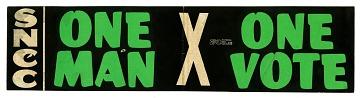 Bumper Sticker, One Man One Vote