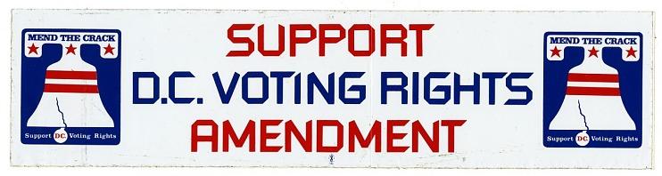 Bumper Sticker, D.C. Voting Rights
