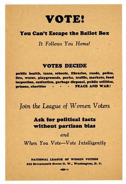 Vote Handbill, 1920s