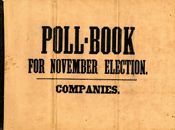 Poll Book, 1864