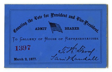 Ticket to the House of Representatives, 1877