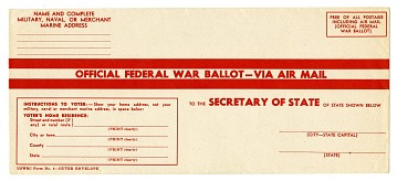 Official Federal War Ballot