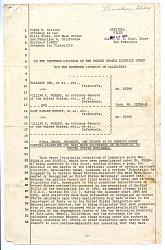 documents, Court Documents for Tadayasu Abo et. al vs. William P. Rogers, San Francisco in California, 03/10/1958