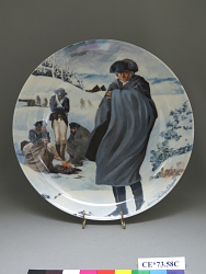 """A Silent Foe at Valley Forge"" Commemorative Plate"