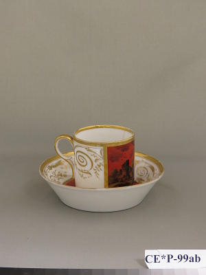 Paris porcelain coffee cup and saucer