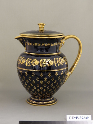 Sèvres porcelain covered pitcher